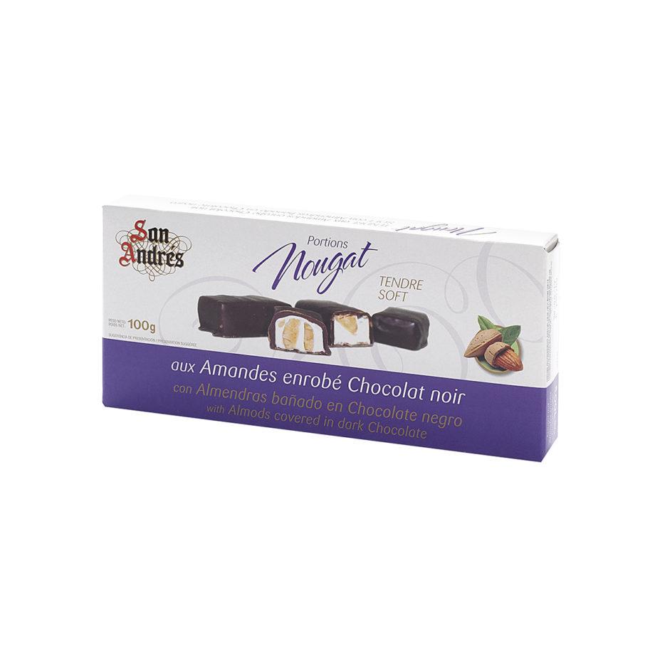 Nougat Porciones Almendra Bañadas en Chocolate